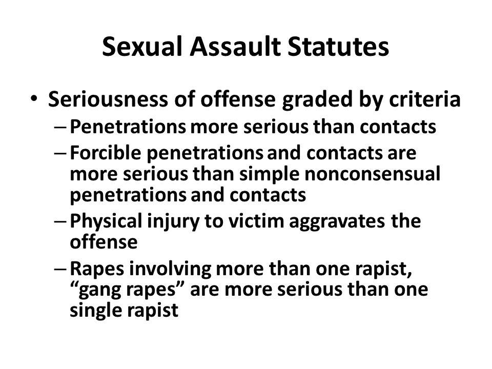 Sexual Assault Statutes