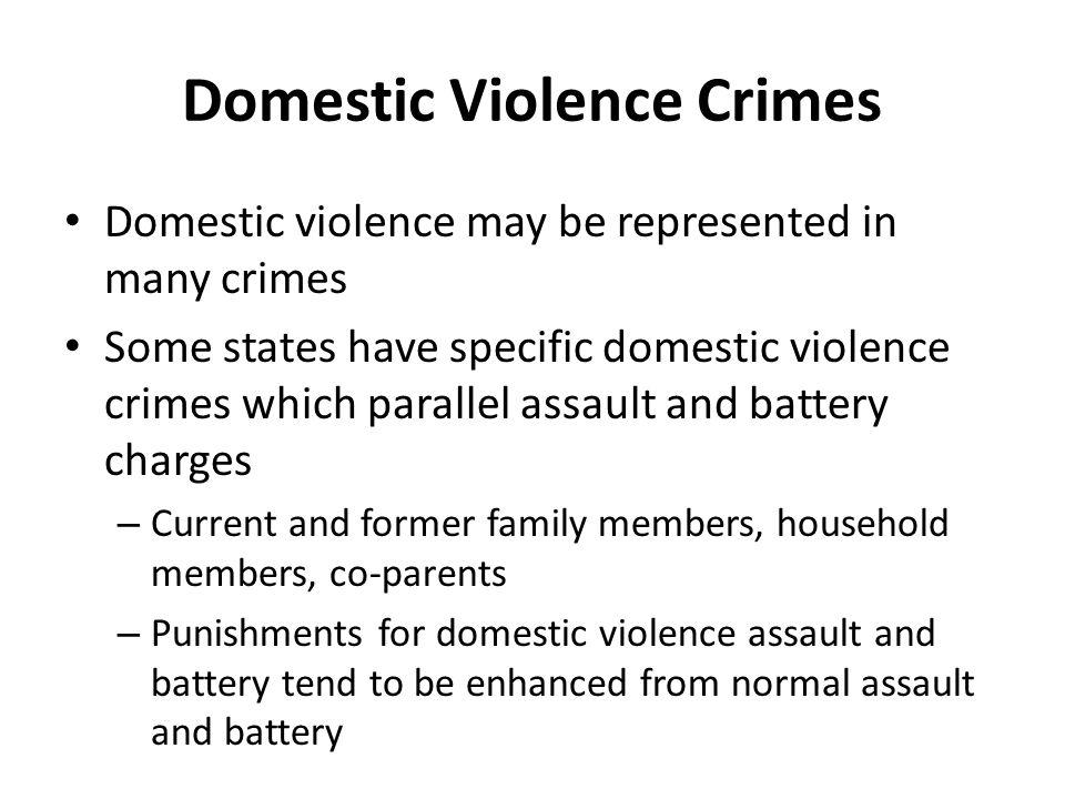 Domestic Violence Crimes