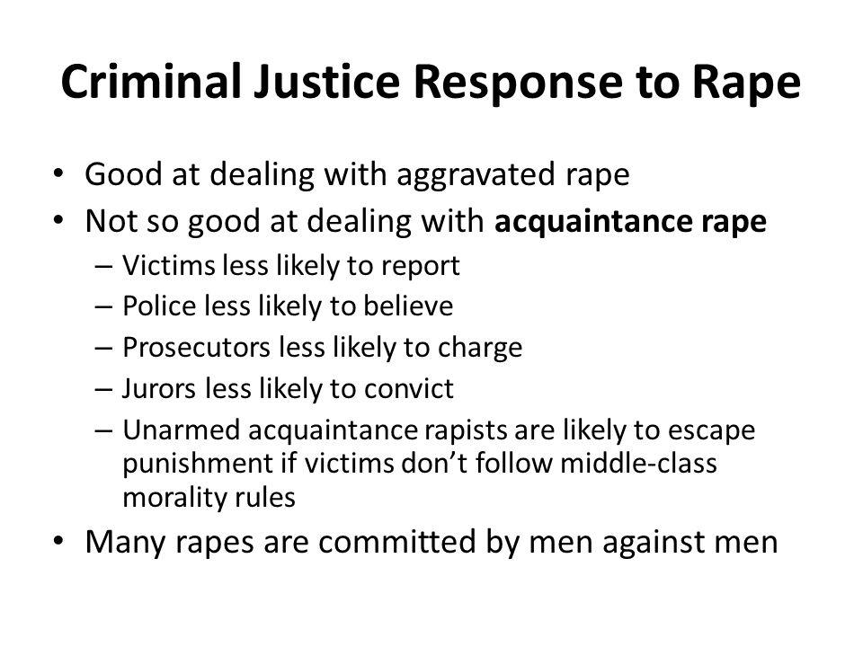 Criminal Justice Response to Rape