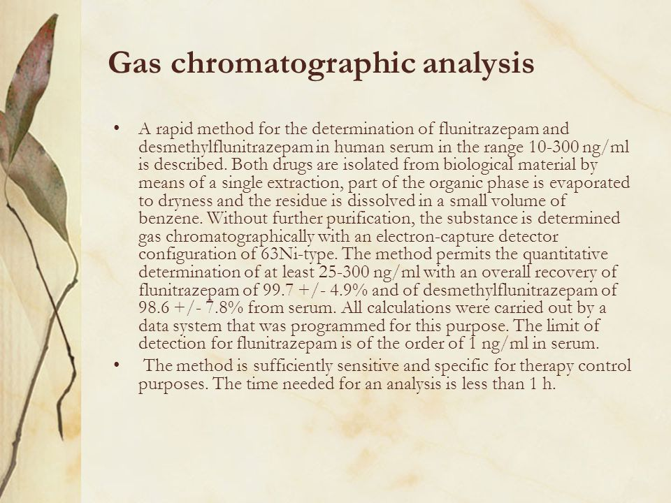 Gas chromatographic analysis