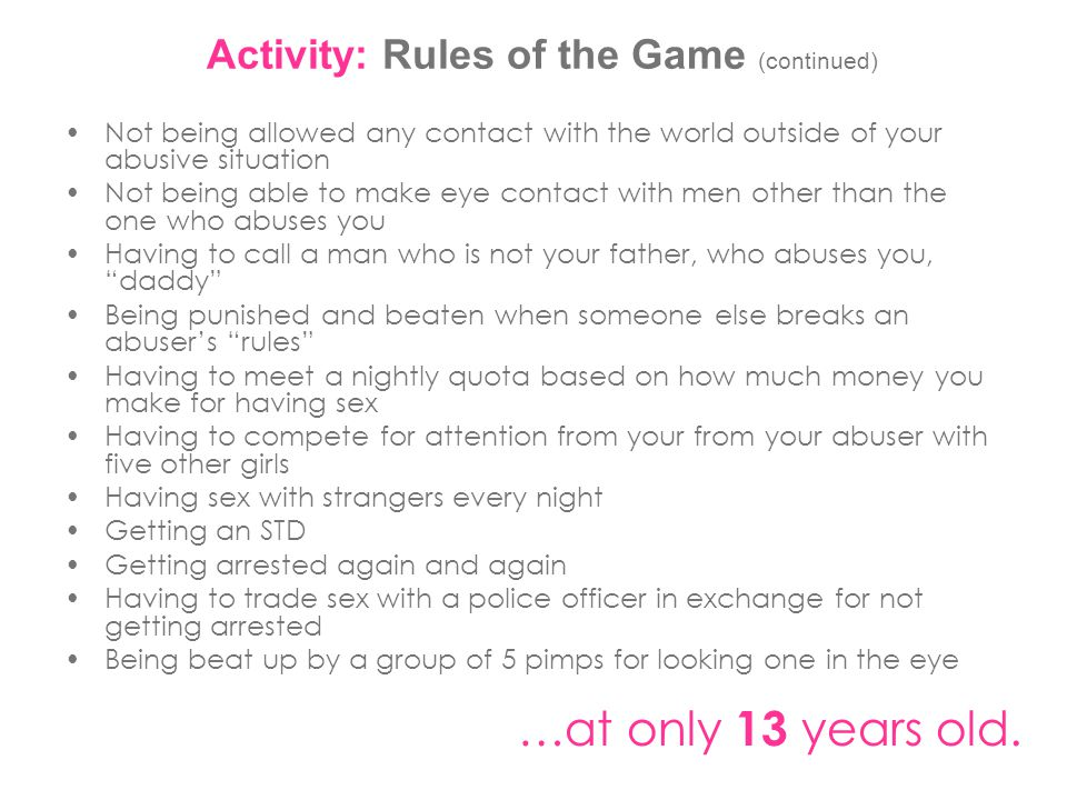 Activity: Rules of the Game (continued)