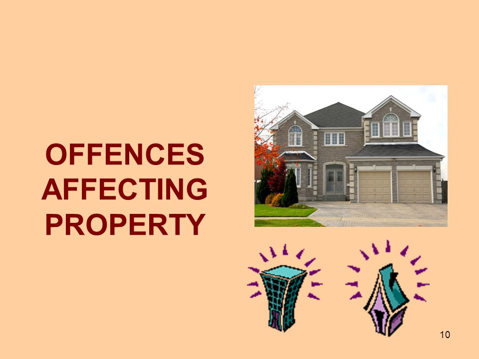 OFFENCES AFFECTING PROPERTY