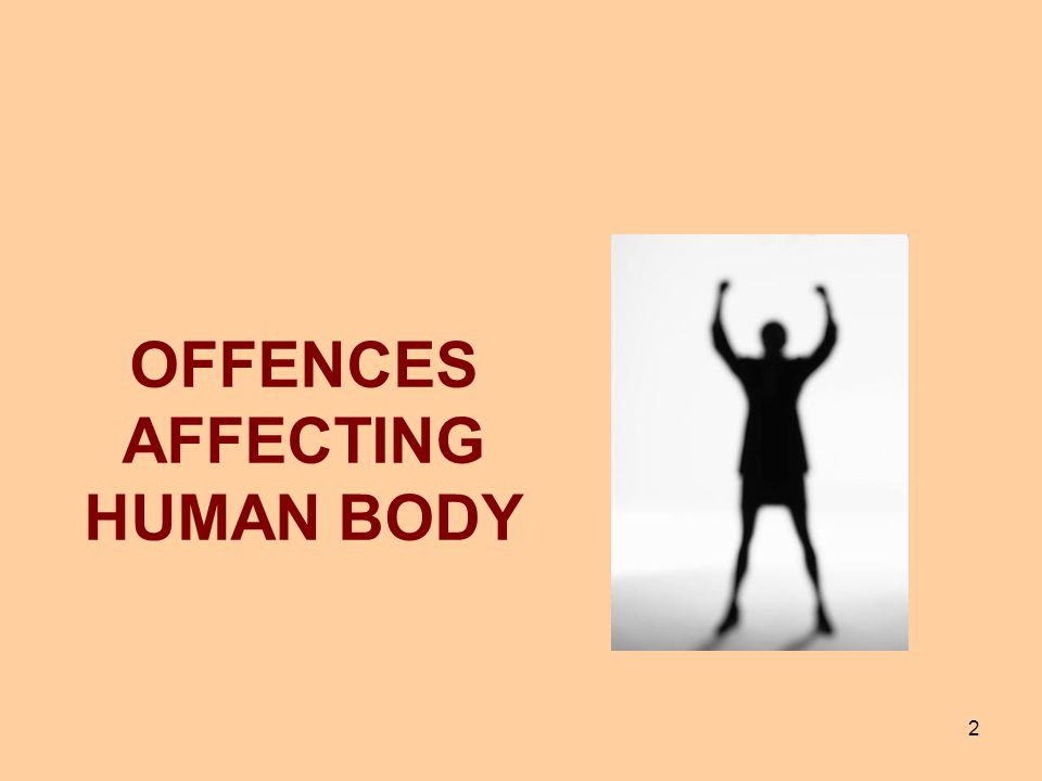 OFFENCES AFFECTING HUMAN BODY