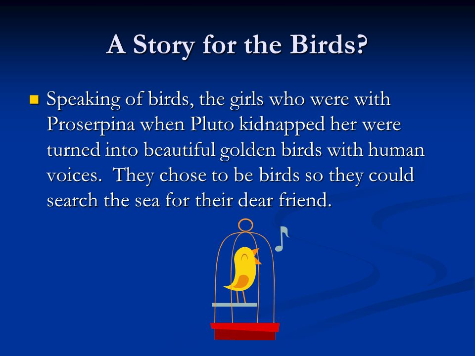 A Story for the Birds