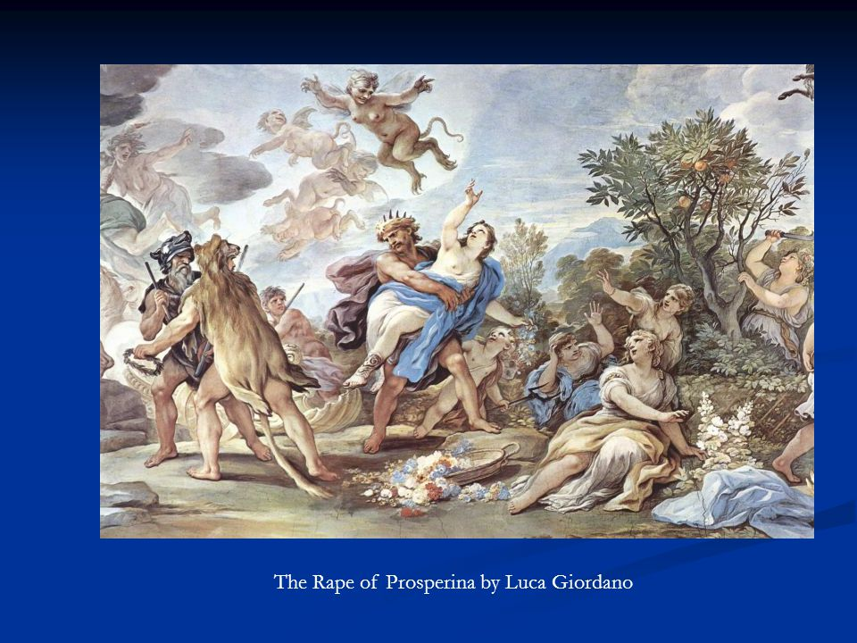 The Rape of Prosperina by Luca Giordano