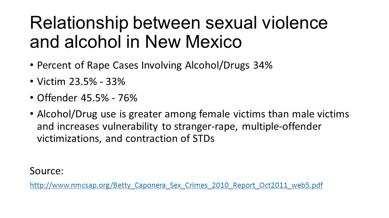 Relationship between sexual violence and alcohol in New Mexico