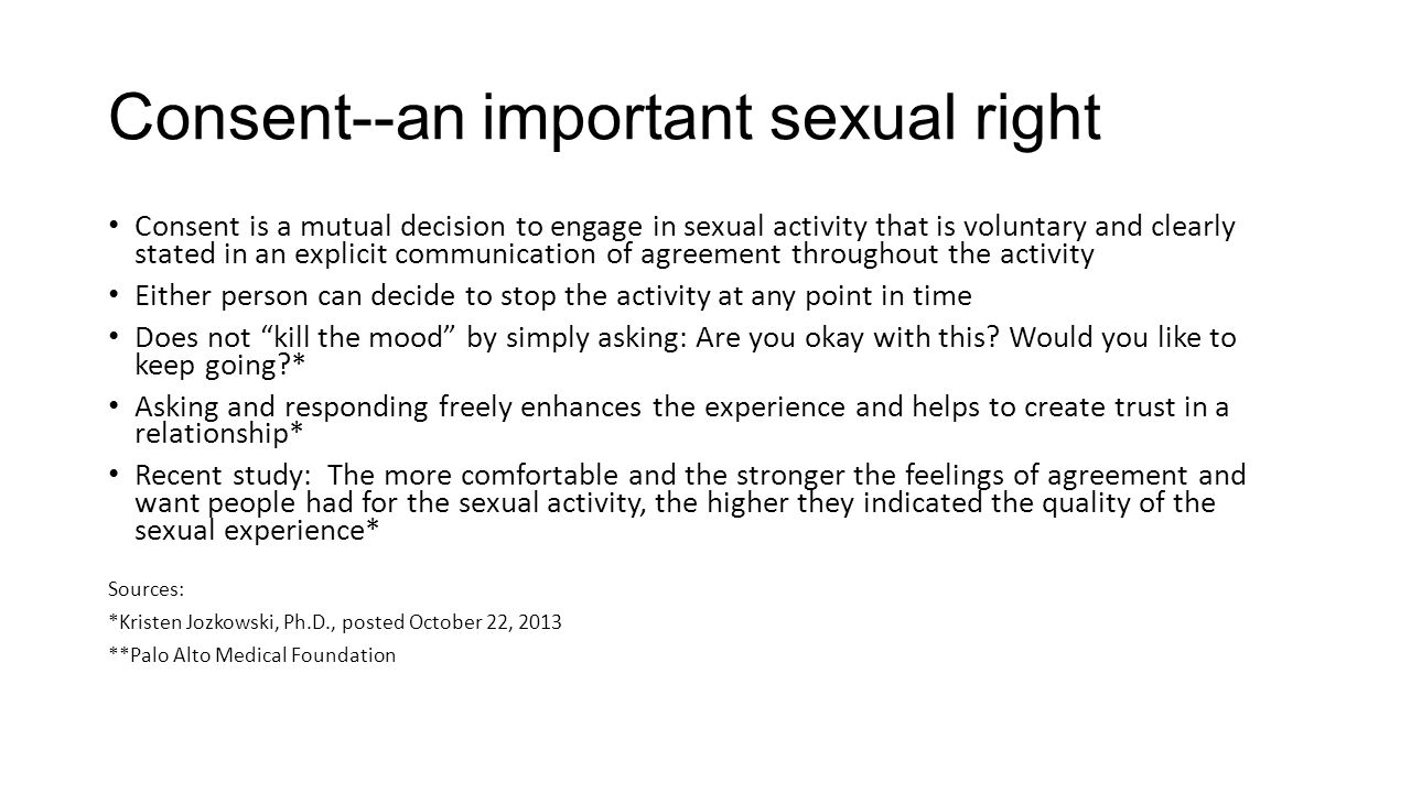Consent--an important sexual right