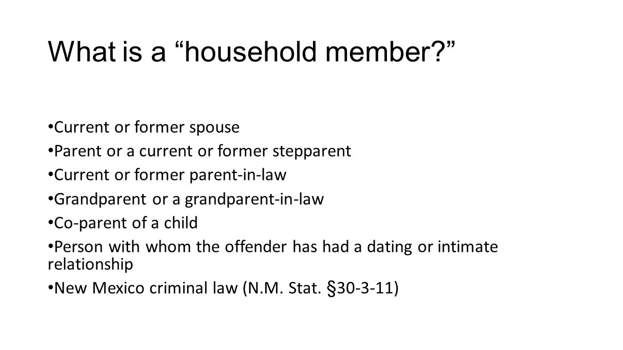 What is a household member
