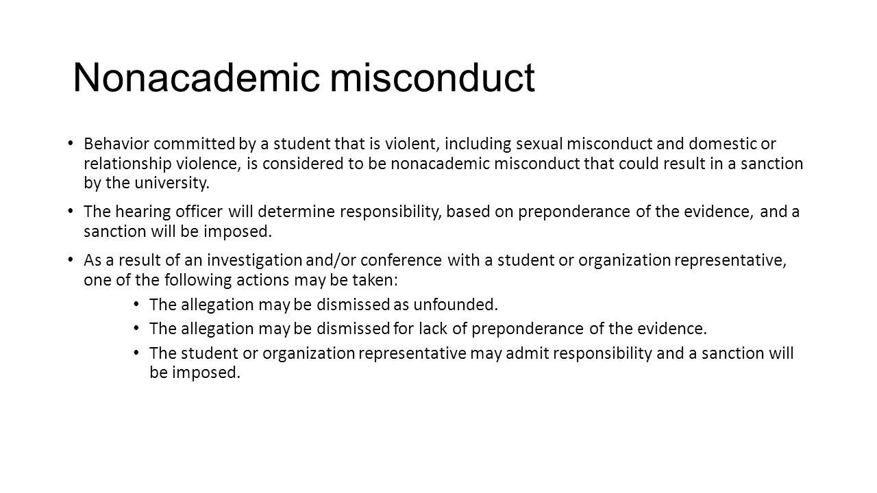 Nonacademic misconduct