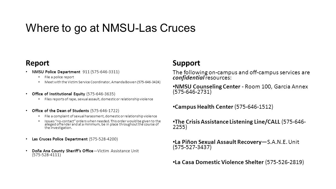 Where to go at NMSU-Las Cruces