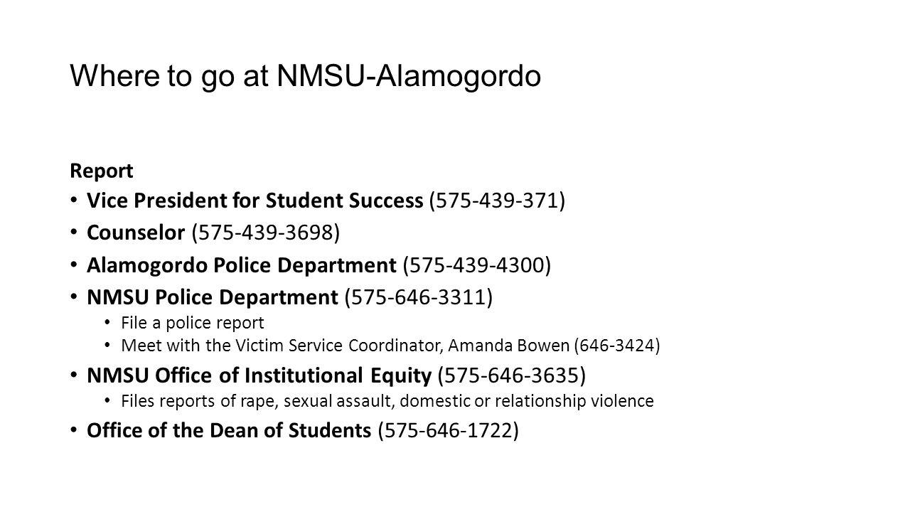 Where to go at NMSU-Alamogordo