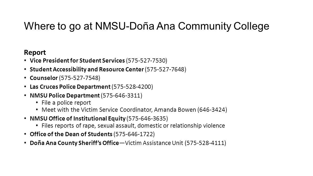 Where to go at NMSU-Doña Ana Community College