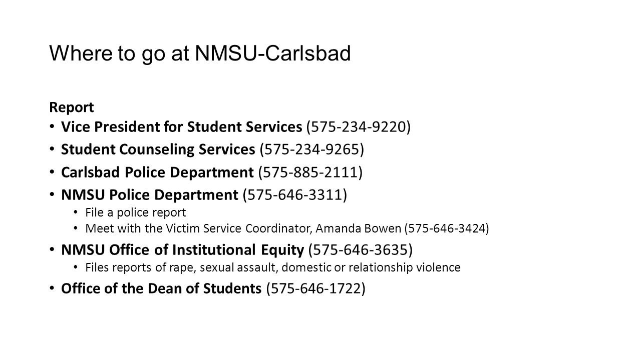Where to go at NMSU-Carlsbad