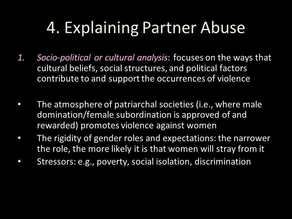 4. Explaining Partner Abuse