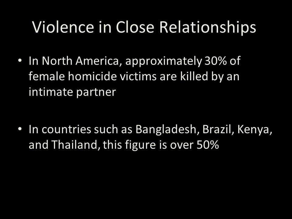 Violence in Close Relationships