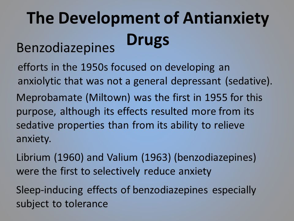 The Development of Antianxiety Drugs