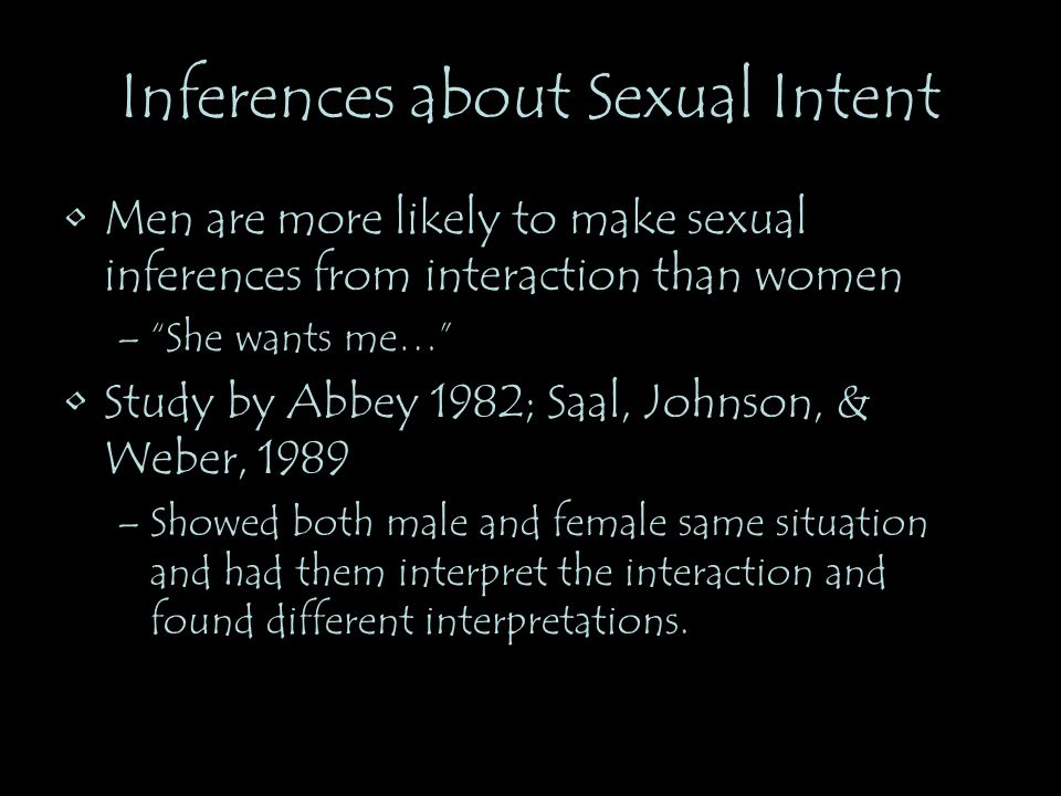 Inferences about Sexual Intent