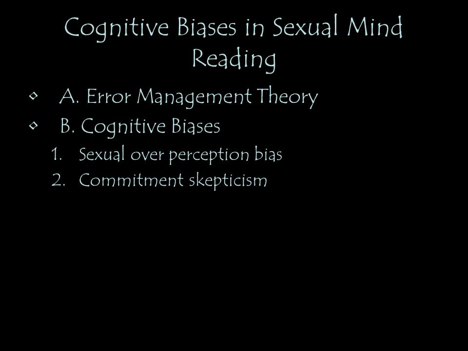 Cognitive Biases in Sexual Mind Reading