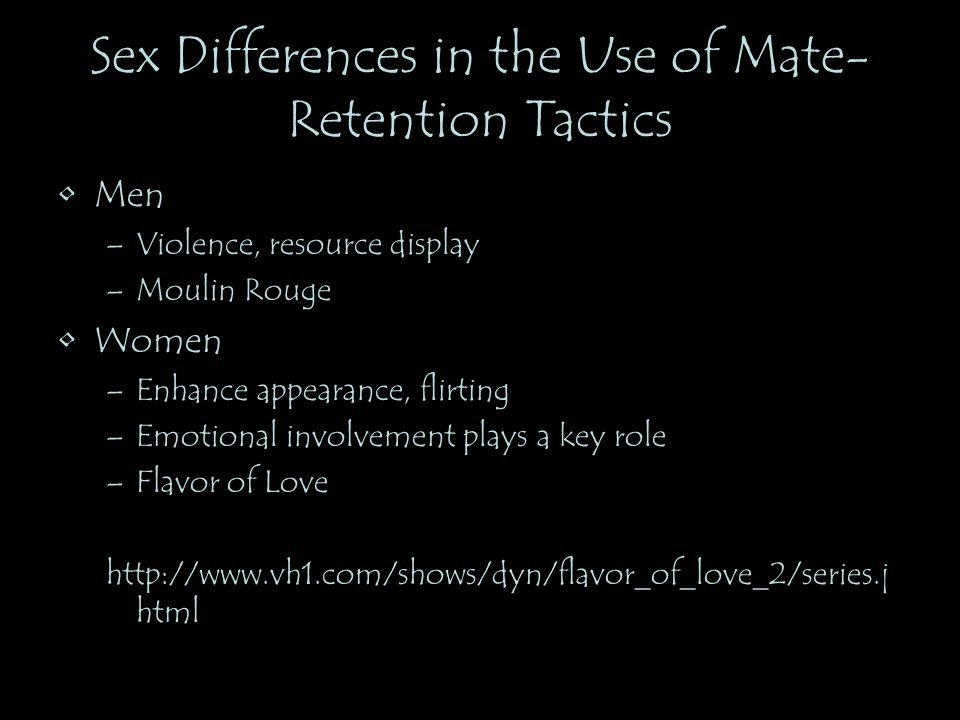 Sex Differences in the Use of Mate-Retention Tactics