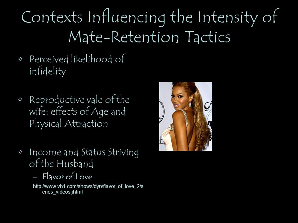 Contexts Influencing the Intensity of Mate-Retention Tactics