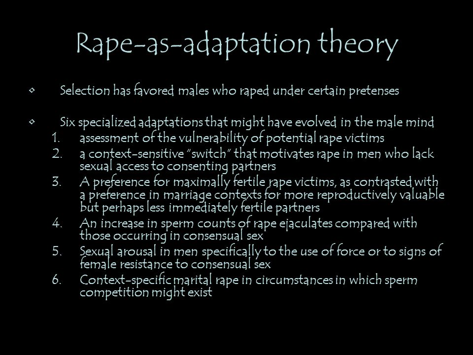 Rape-as-adaptation theory