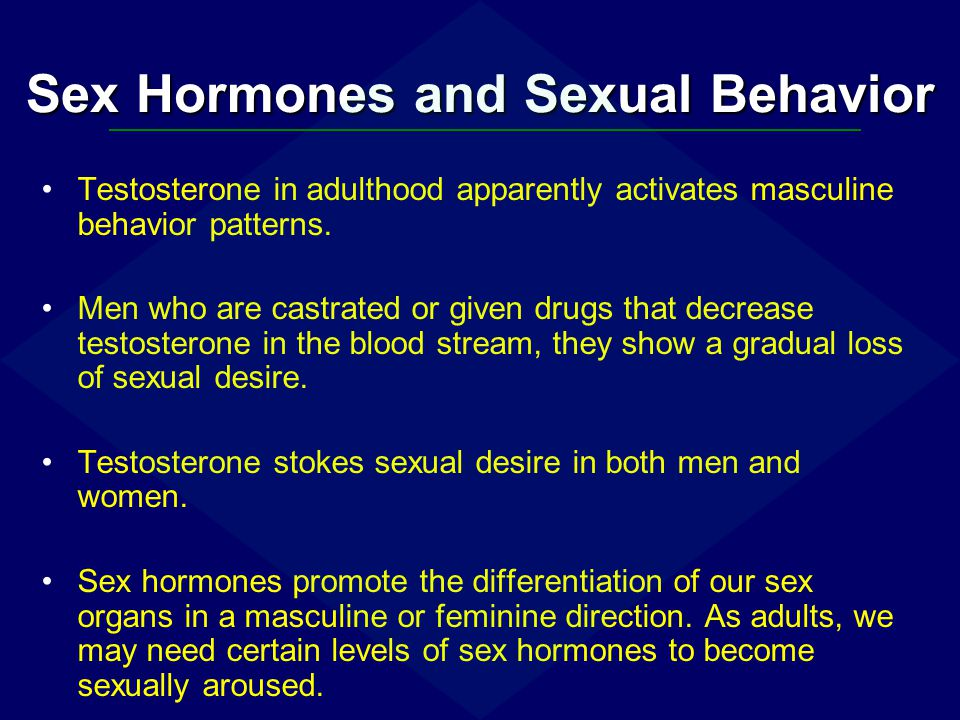 Sex Hormones and Sexual Behavior