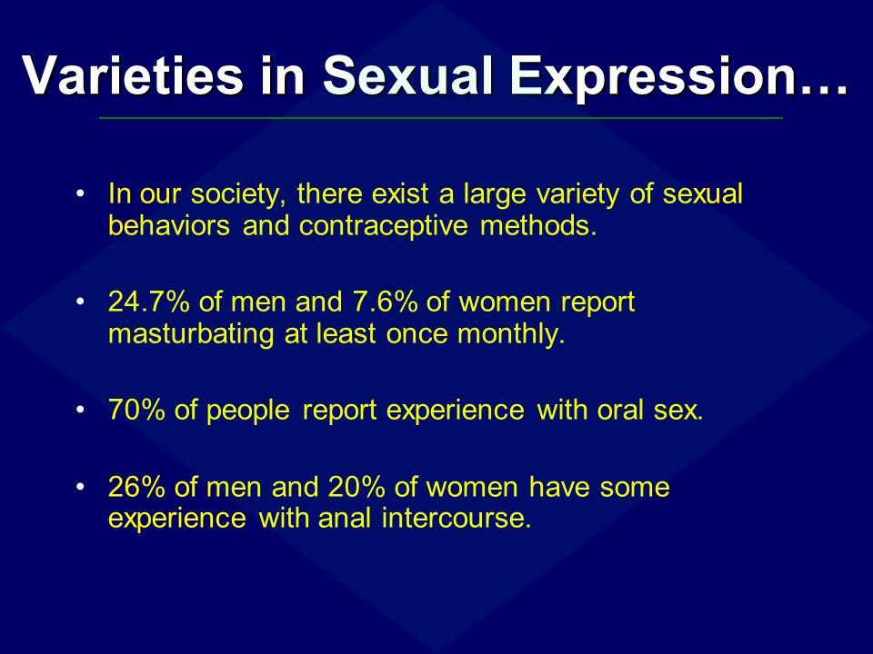 Varieties in Sexual Expression…