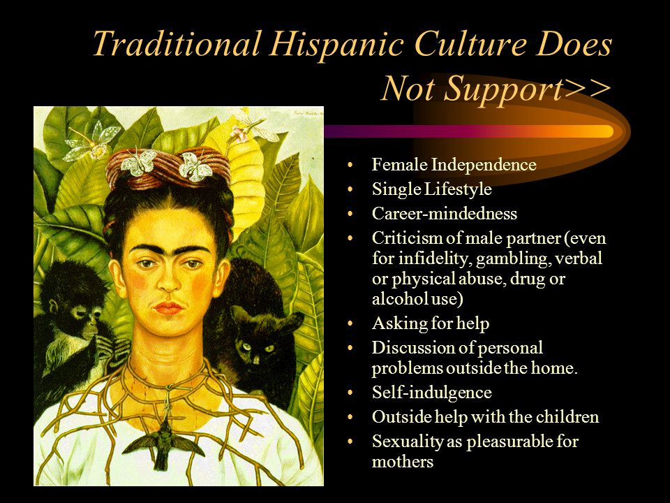 Traditional Hispanic Culture Does Not Support>>
