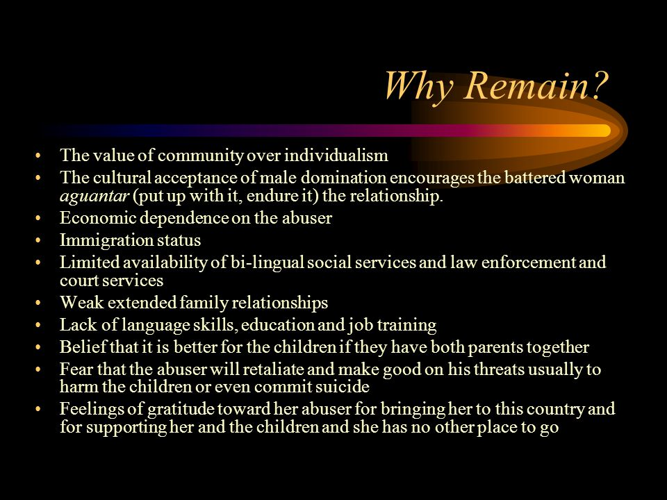 Why Remain The value of community over individualism