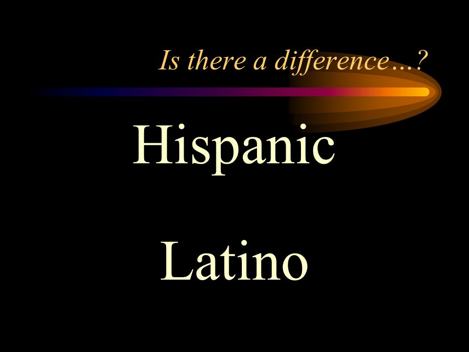 Hispanic Latino Is there a difference…