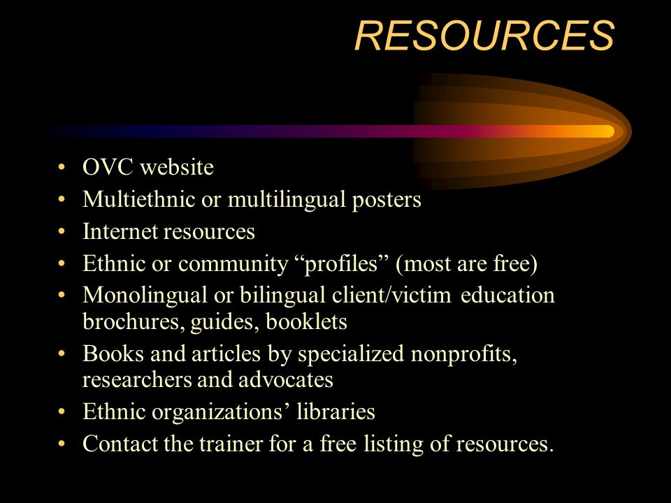 RESOURCES OVC website Multiethnic or multilingual posters