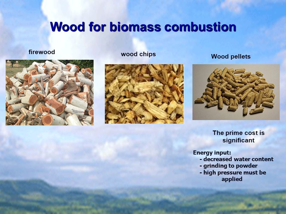 Wood for biomass combustion