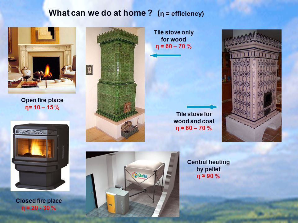 What can we do at home (η = efficiency)
