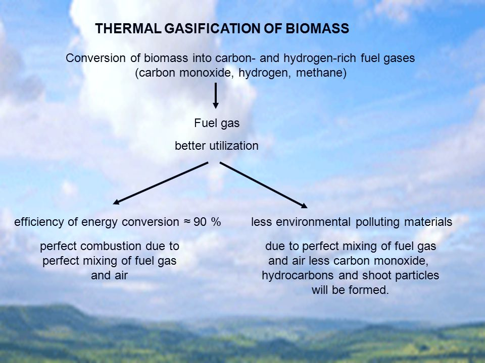 THERMAL GASIFICATION OF BIOMASS
