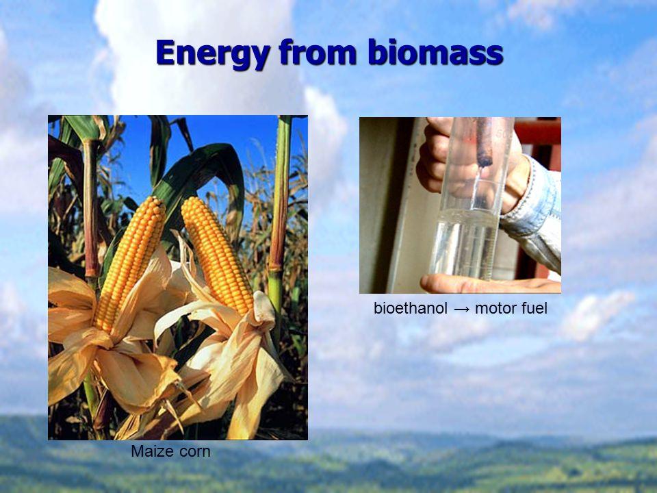 bioethanol → motor fuel