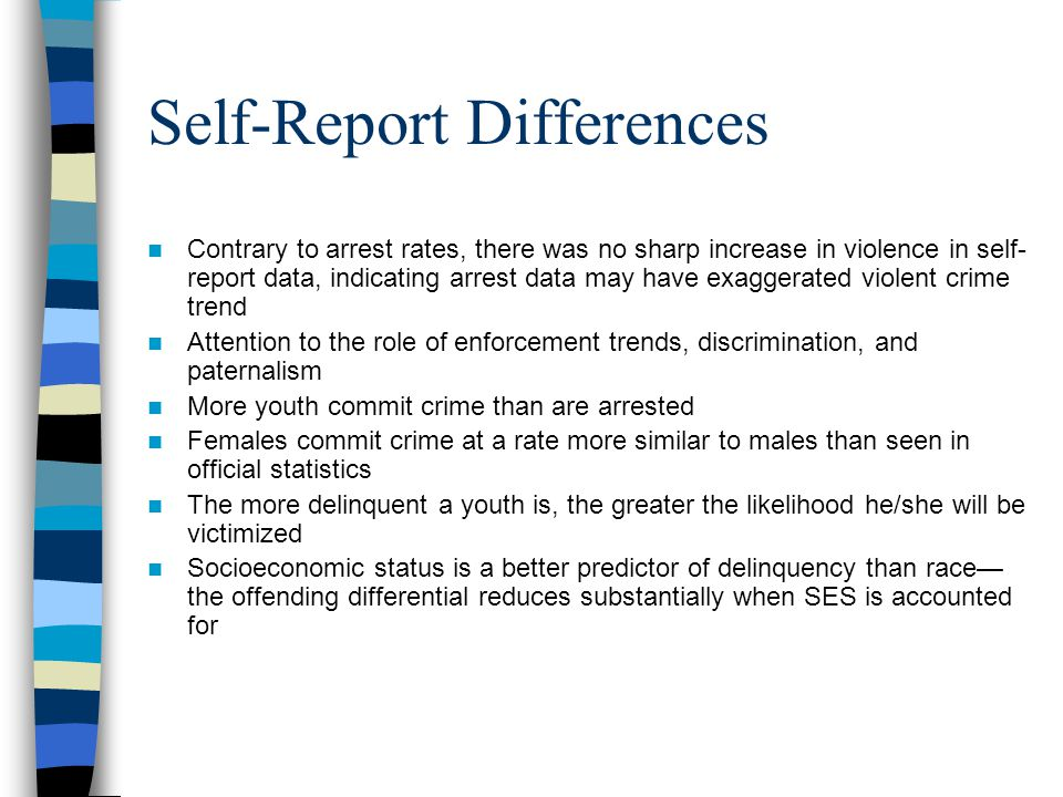 Self-Report Differences