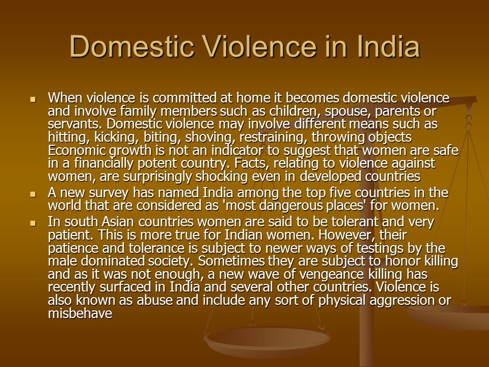 Domestic Violence in India