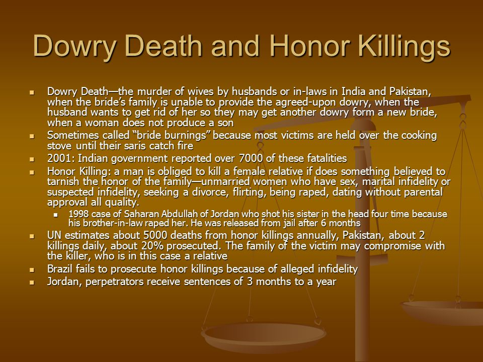 Dowry Death and Honor Killings
