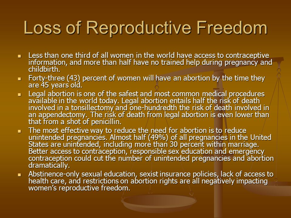 Loss of Reproductive Freedom