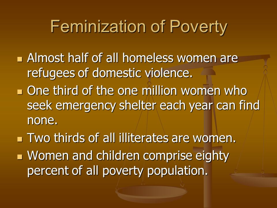 Feminization of Poverty