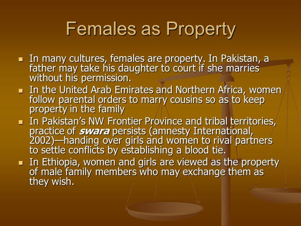 Females as Property