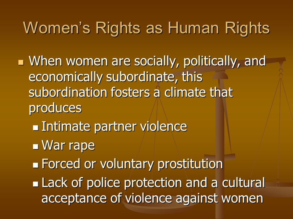 Women's Rights as Human Rights