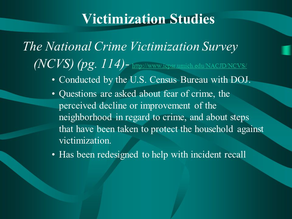 Victimization Studies