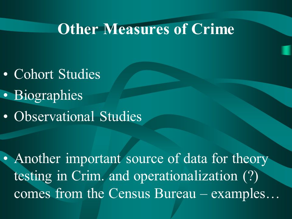 Other Measures of Crime