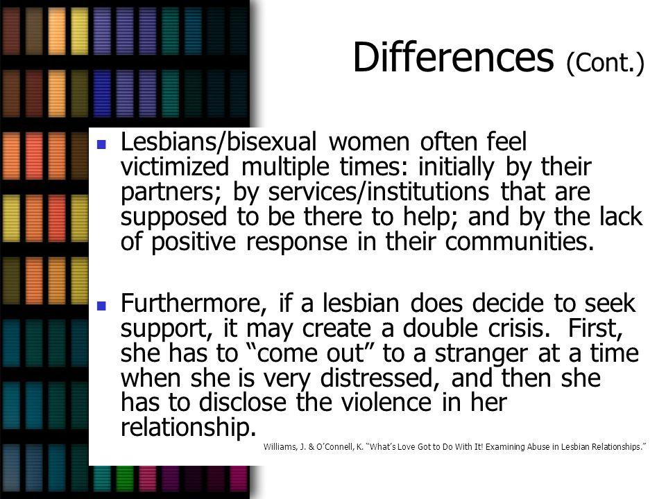 Differences (Cont.)