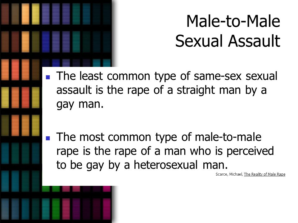 Male-to-Male Sexual Assault