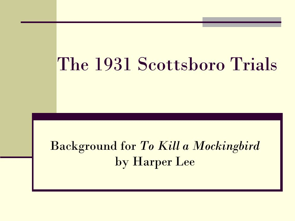 Background for To Kill a Mockingbird by Harper Lee