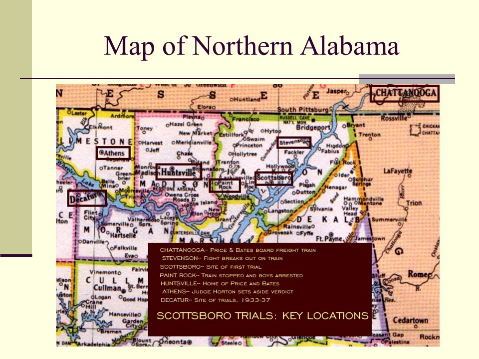 Map of Northern Alabama