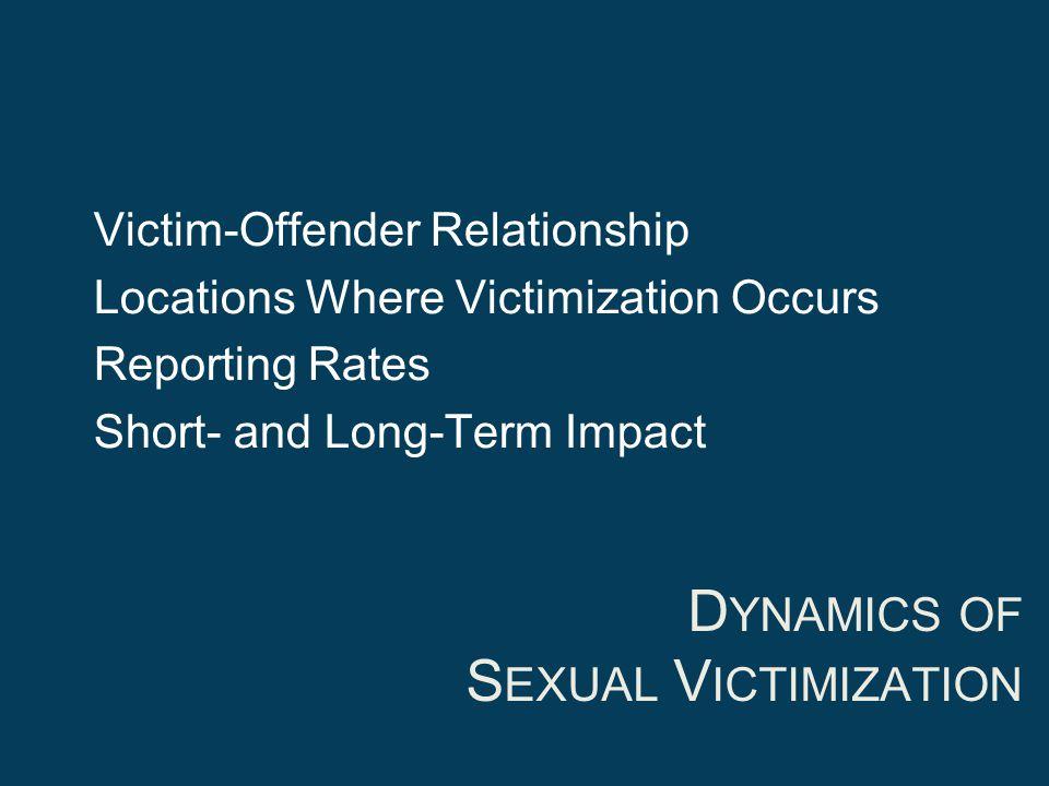 Dynamics of Sexual Victimization