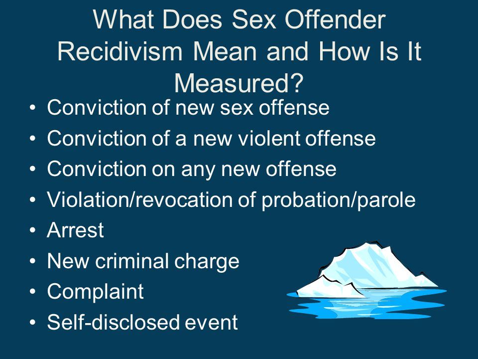 What Does Sex Offender Recidivism Mean and How Is It Measured